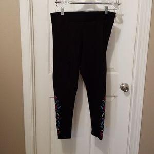 Torrid Embroidered Black Legging